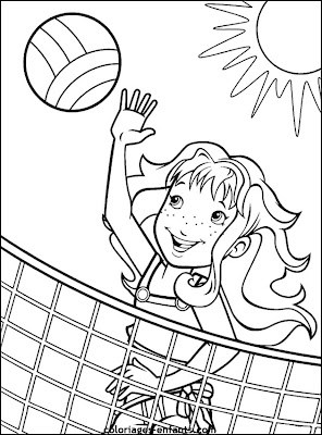 Girls Playing Sports Coloring Pages