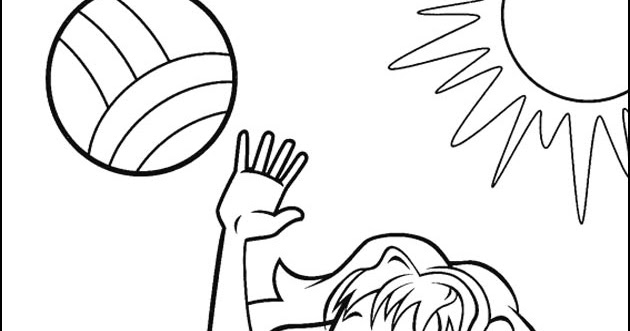 how to draw a girl playing volleyball