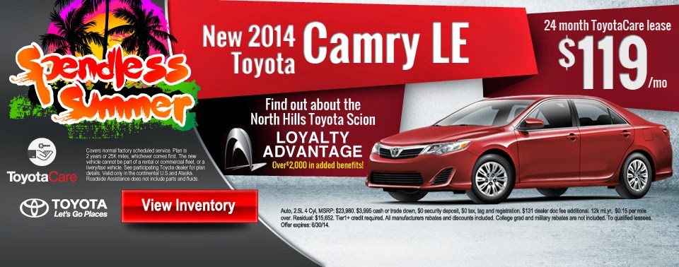 Posted By North Hills Toyota Scion At 2:03 PM No Comments: