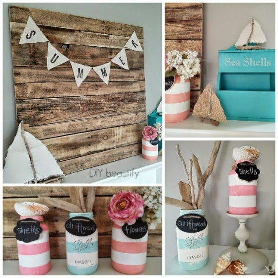 Thrifty Summer Mantle www.diybeautify.com
