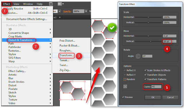 how to create hexagon in illustrator