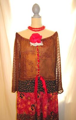 Bohemian Patterns and Colors, Fish Tail Hem Women's Long Dress