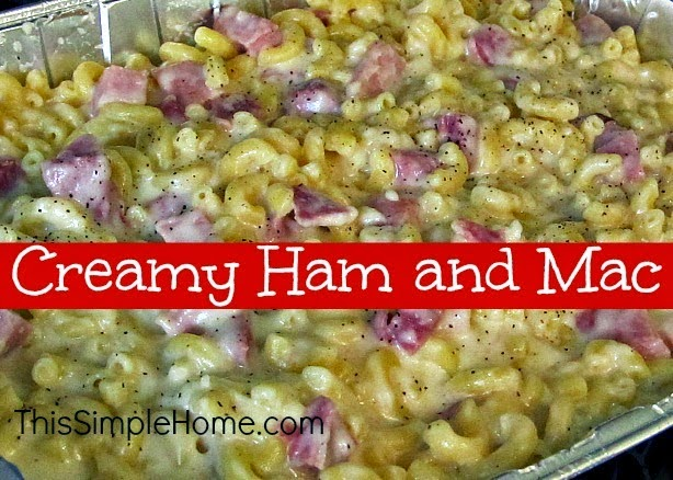 macaroni, ham, noodles, comfort food, recipe, pasta, dinner