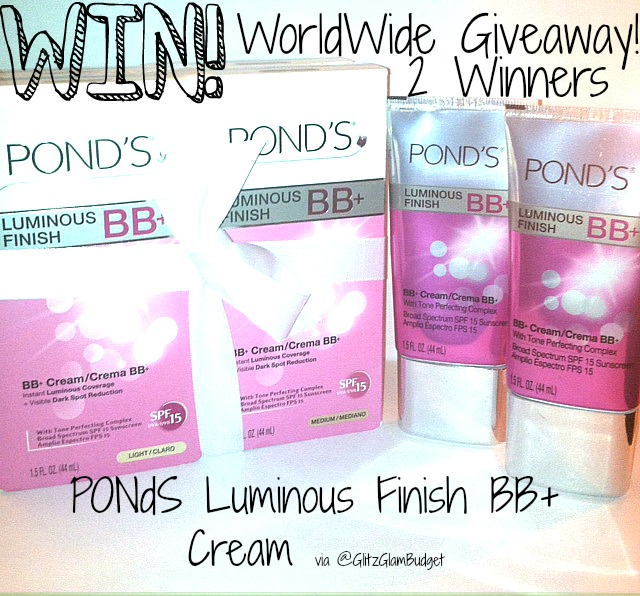 WORLDWIDE GIVEAWAY  PONDS Luminous Finish BB+ Cream