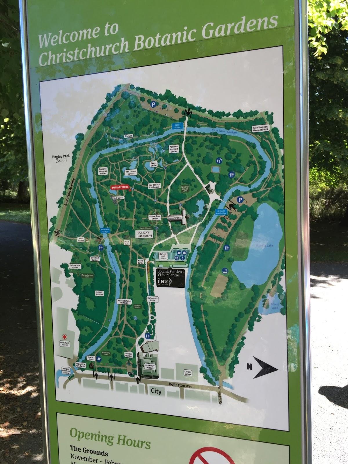 100 words of travel botanic gardens christchurch for Garden maintenance christchurch
