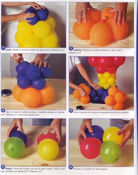 C mo decorar las fiestas con globos revistas de - Manualidades con globos ...