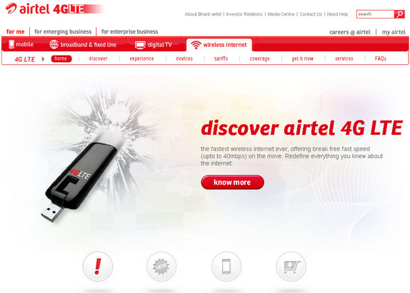 airtel 4g launched