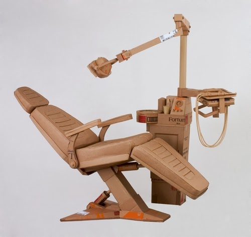 16-Dentist-Chair-Life-Size-Chris-Gilmour-Cardboard-Sculptures-www-designstack-co