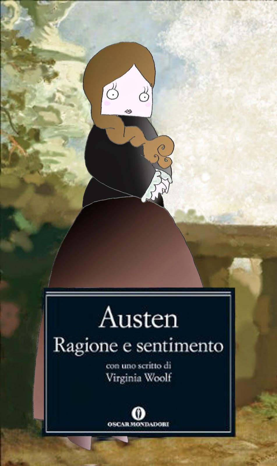 Ragione e sentimento: libro Jane austen, oscar mondadori, copertina artistica
