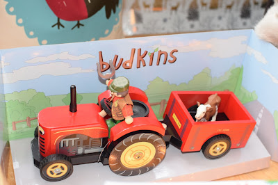 Budkins Berties red tractor and pabo simmental calf from farm toys online - Christmas Gift Guide 2015 - Emma in Bromley
