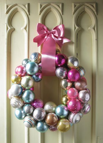 Pastel Ornament Wreath by Eddie Ross