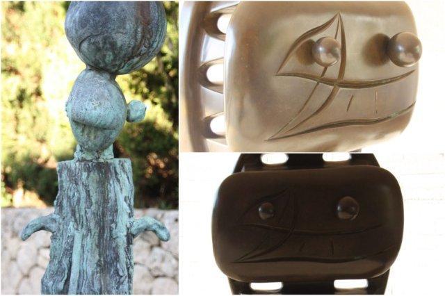 Esculturas en el exterior de la Fundacion Pilar y Joan Miro en Mallorca