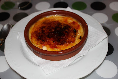 Catalan Creme Brulee at Restaurant 360. Arinsal