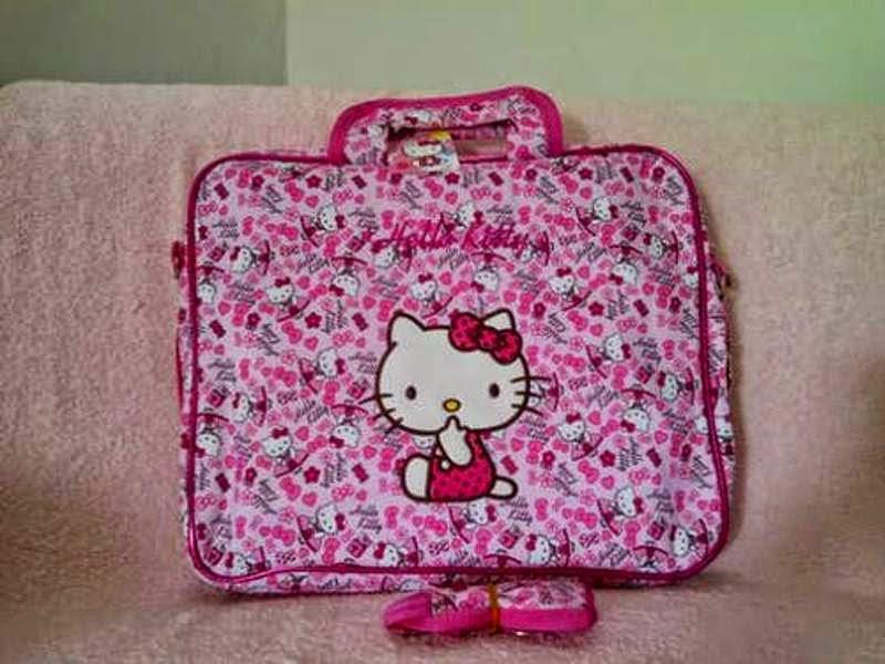 Gambar tas laptop hello kitty lucu warna pink