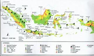 Persebaran tambang minyak di Indonesia.