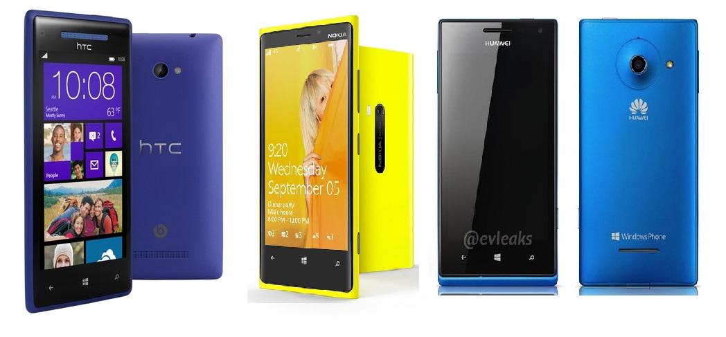 Huawei w1 Lumia 920 HTC 8x