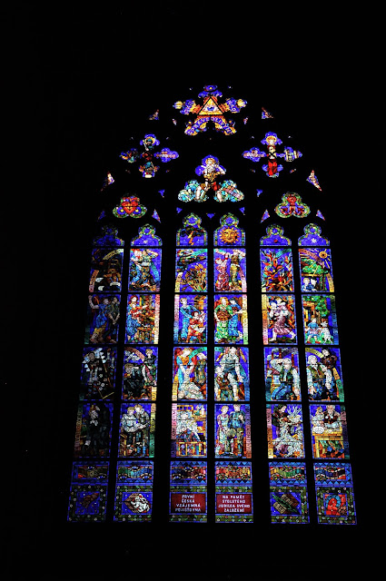 Stained glass window, one of many!