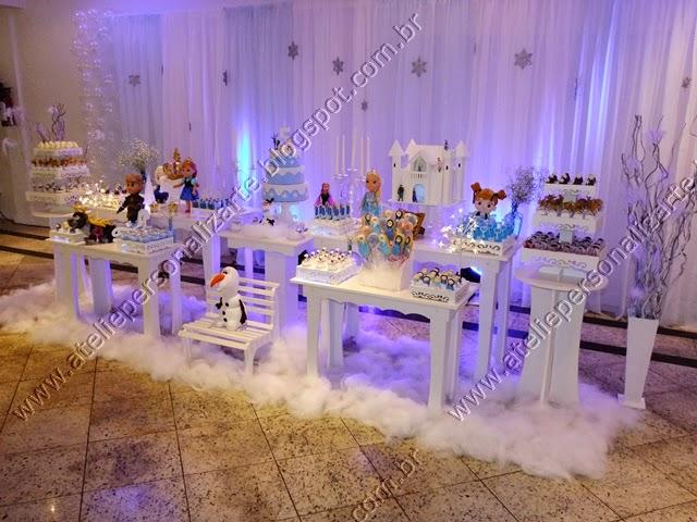 Decoração De Festa Infantil Frozen Ateliê Personalizarte