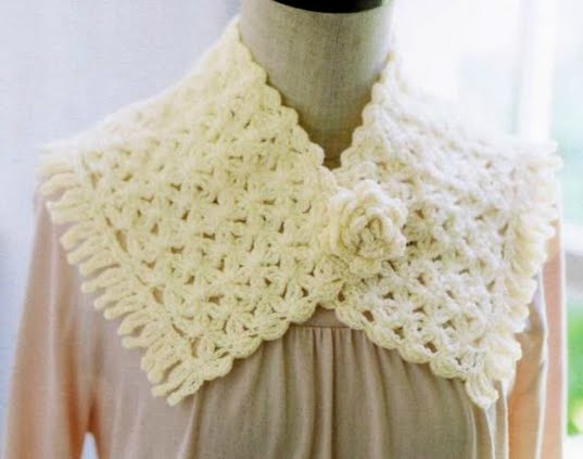 Xale Mini Stole   Croche