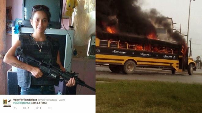 Crime scene photos: La Flaquita Mexican assassin dismembered in drug cartel violence