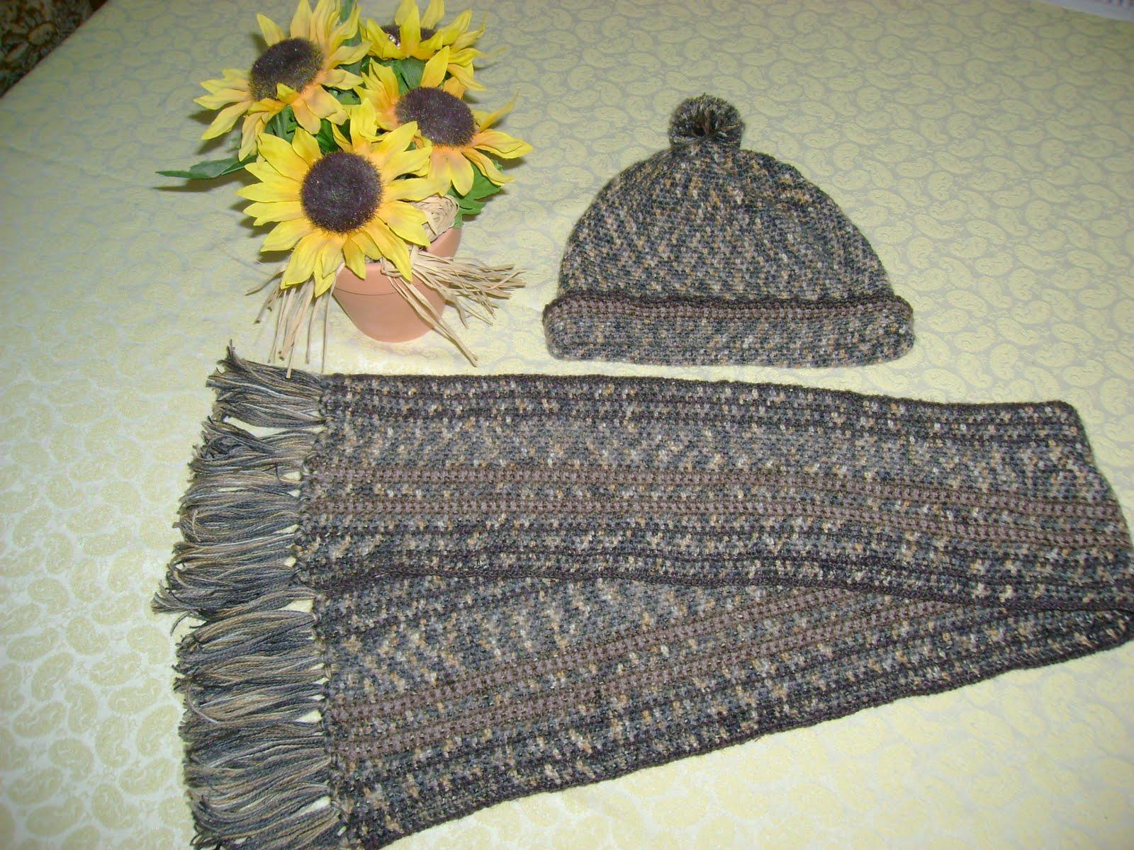 Sa invatam sa crosetam si sa tricotam: caciula si fular crosetate