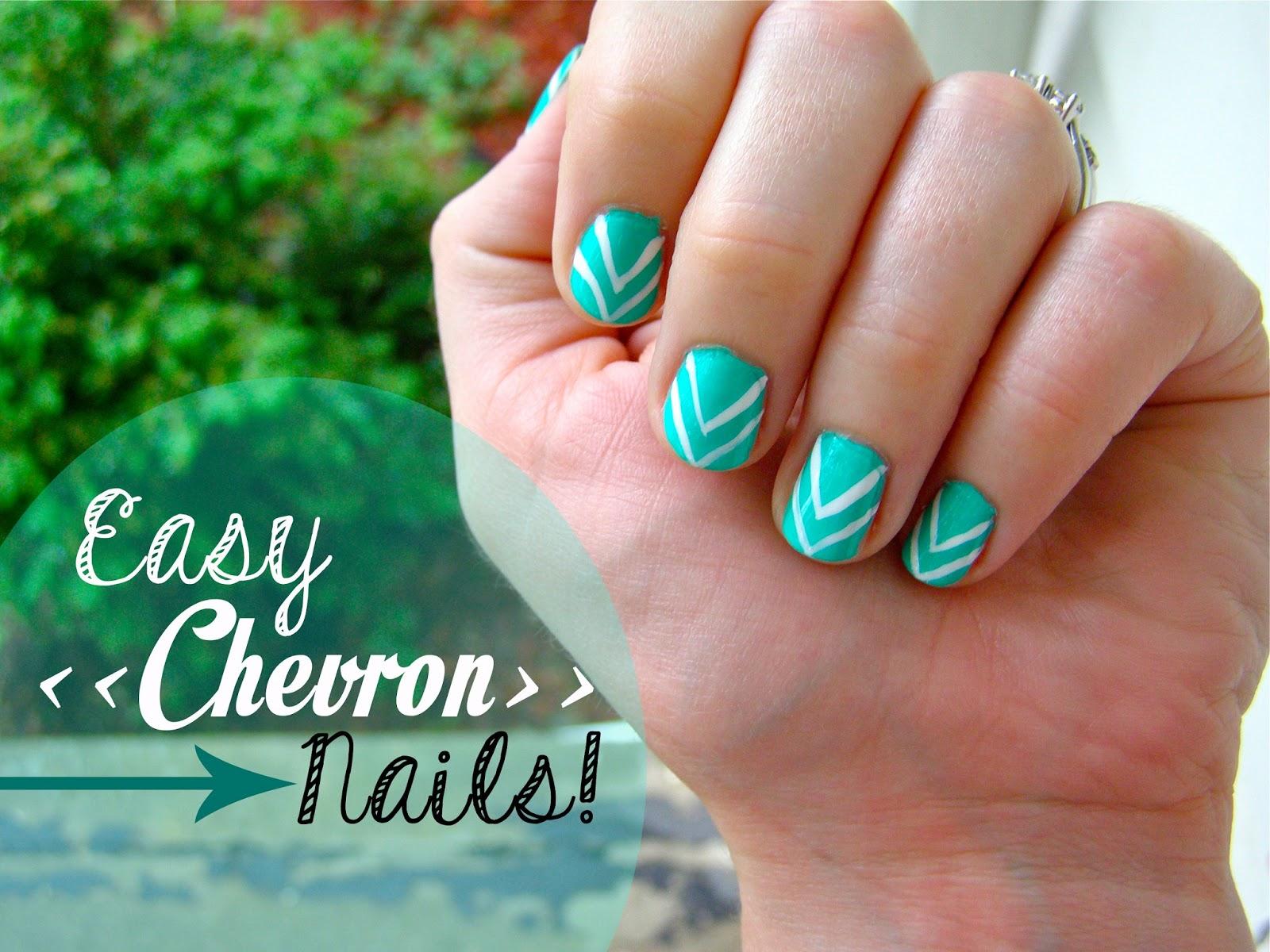 Easy Chevron Nails Friday May 10 2017