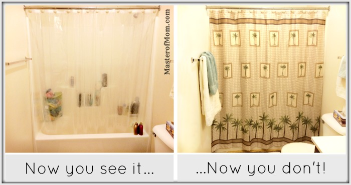 Fabric shower curtain, palm tree shower curtain, beach themed bathroom, bathroom decorating ideas, palm tree bath set