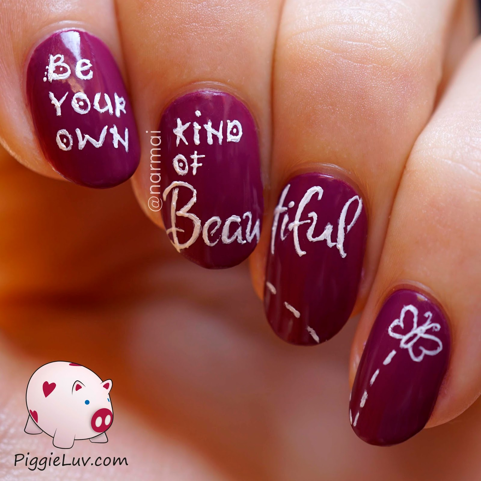 PiggieLuv: \'Beautiful\' nail art ft. piCture pOlish Bonkers