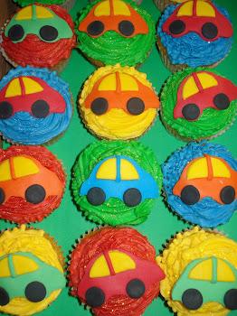 Baby Car Cupcakes