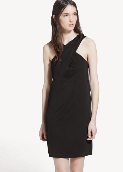 Mango 2015 Elbise Modelleri  zigzag yaka sırt dekolteli elbise, kısa elbise siyah elbise, gece elbisesi