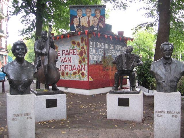 Musician square in Amsterdam