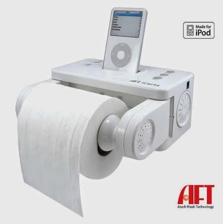 digital tissue holder with ipad