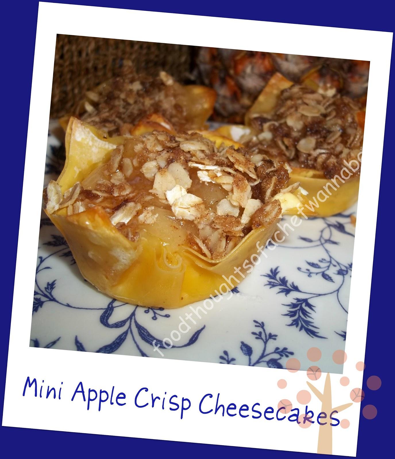 FoodThoughtsOfaChefWannabe: Mini Apple Crisp Cheesecakes