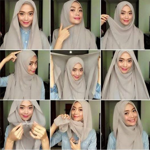 Image Tutorial Hijab Pashmina Simple Download