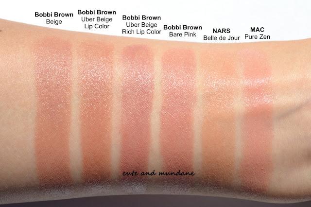 Cute and mundane bobbi brown uber beige lip color vs for Brown beige paint color