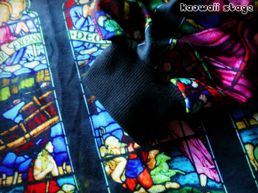 estampado catedral iglesia vidriera