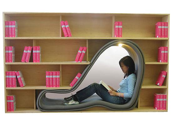 Rak buku boleh masuk orang