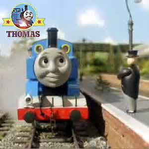 Fat Controller Elsbridge station platform Thomas the train Annie and Clarabel Henry and the elephant