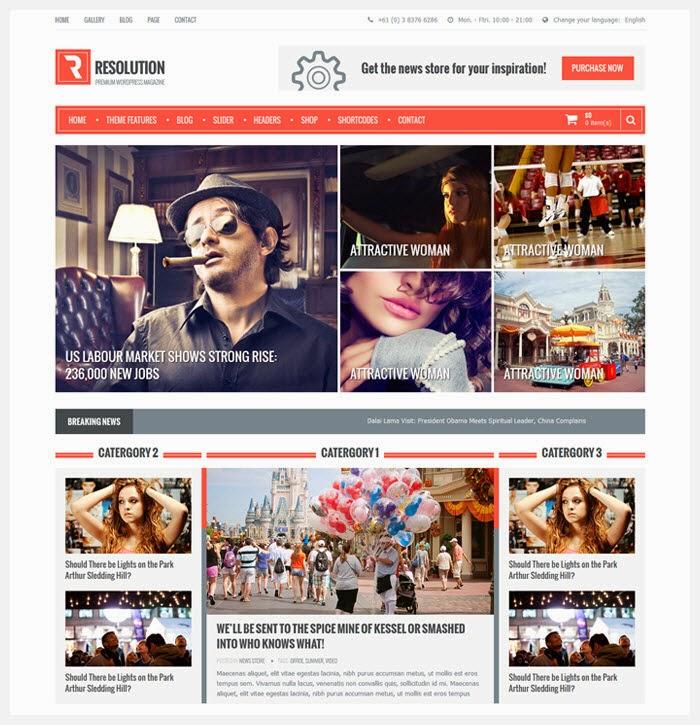 50 Free News & Magazine WordPress Themes