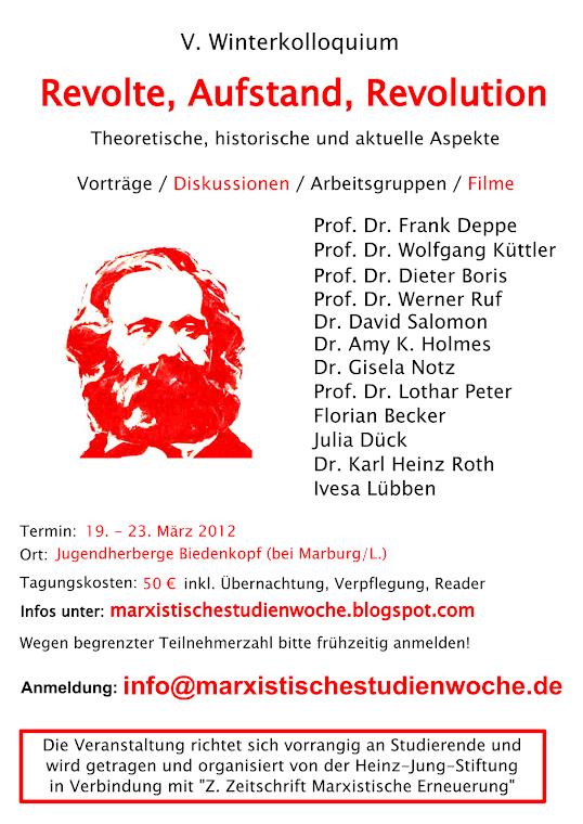 Marxistische Studienwoche 2012