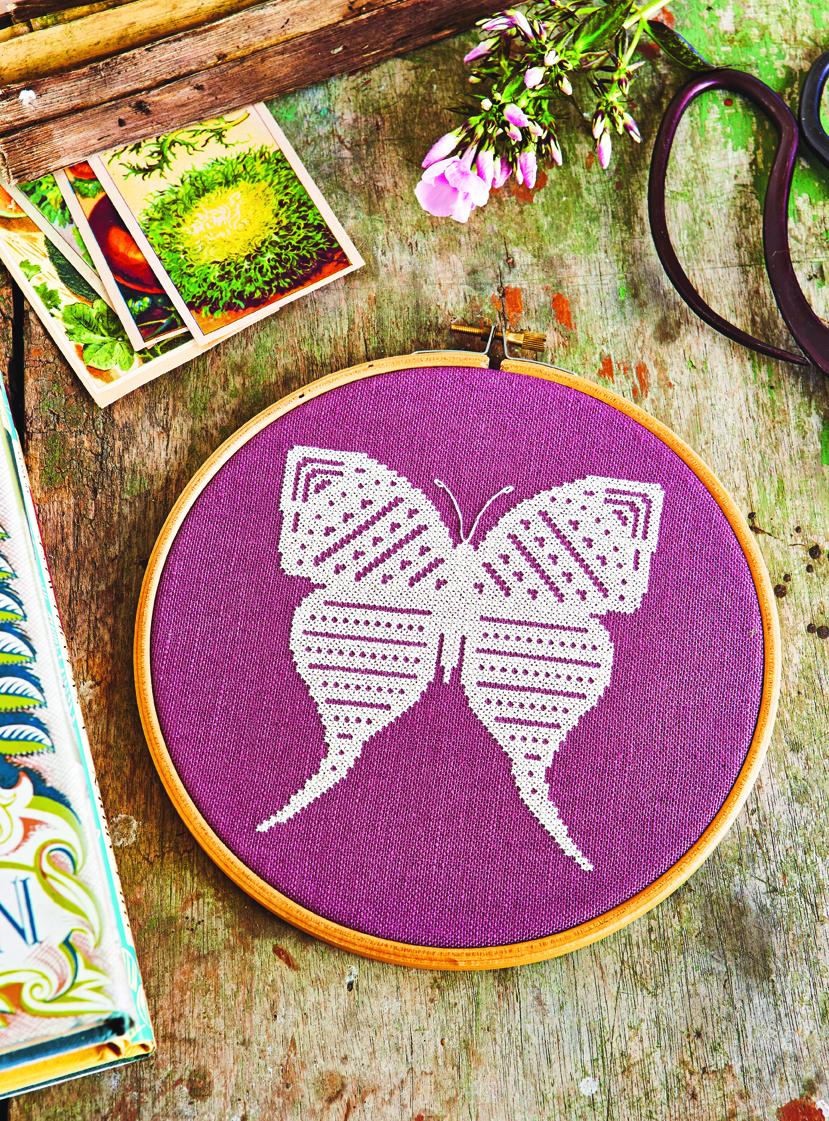 Follow The White Bunny Secret Garden Embroidery