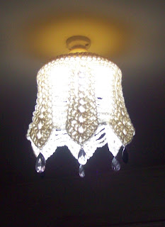 crochet an old light shade again