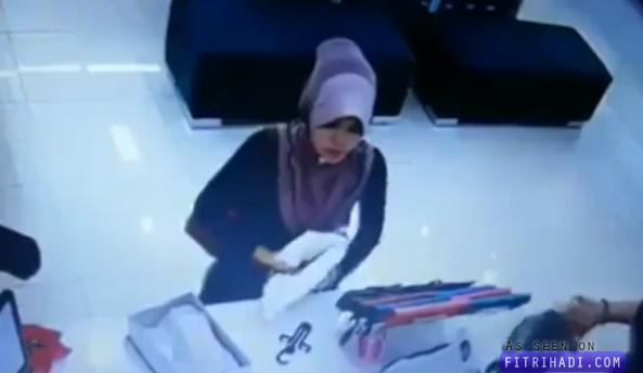 Video Wanita Muslimah Curi Purse Senyap-Senyap