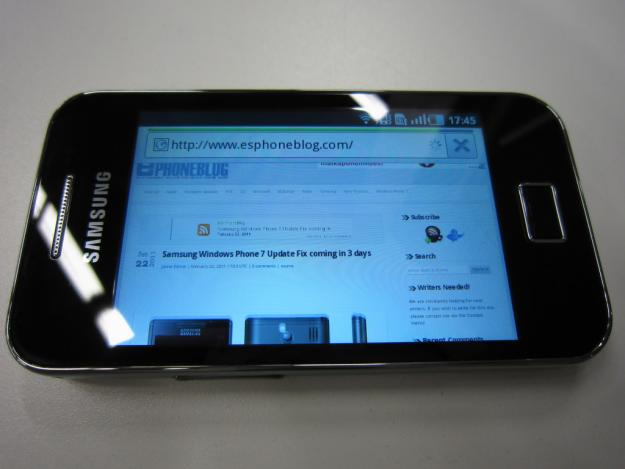 samsung galaxy ace S5830I display