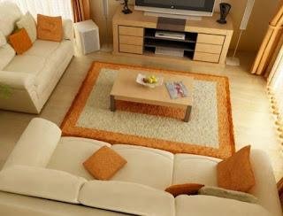 warna cat ruang santai rumah minimalis