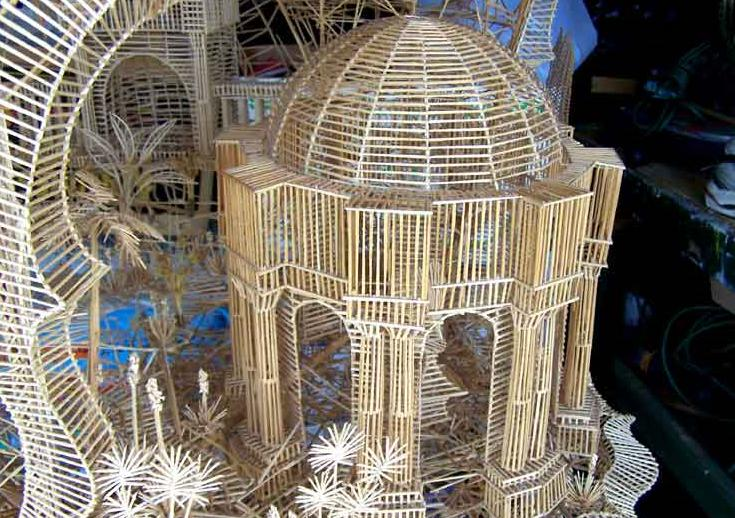 home decor ideas recreate famous architecture using toothpicks