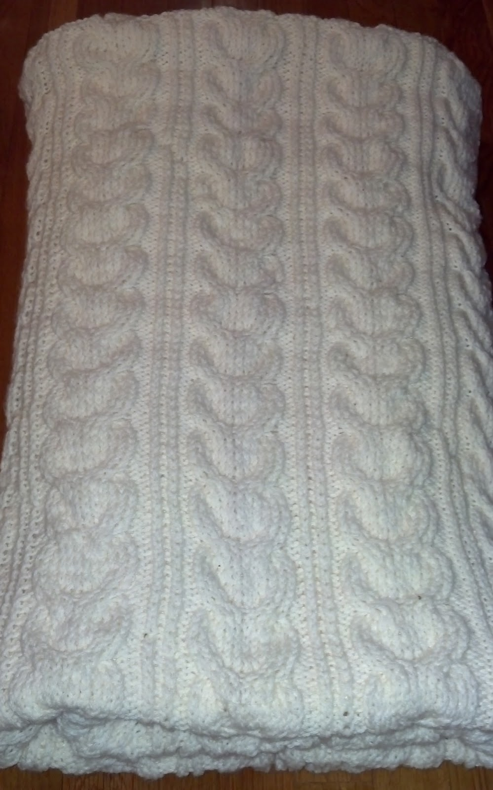 Knitting Pattern For Pottery Barn Throw : Pattern: Pottery Barn Cable Knit Throw Knit A Bit Crochet Away