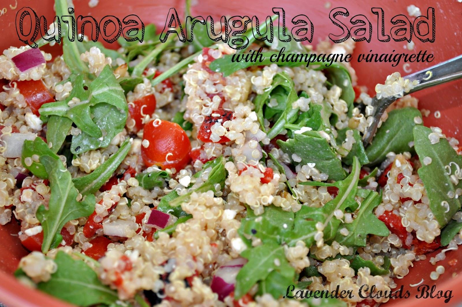salad pork milanese with arugula salad quinoa tabbouleh arugula salad ...