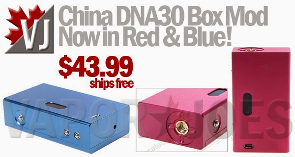ROCK BOTTOM PRICE! - China DNA30 Box Mod - Now in Red & Blue!