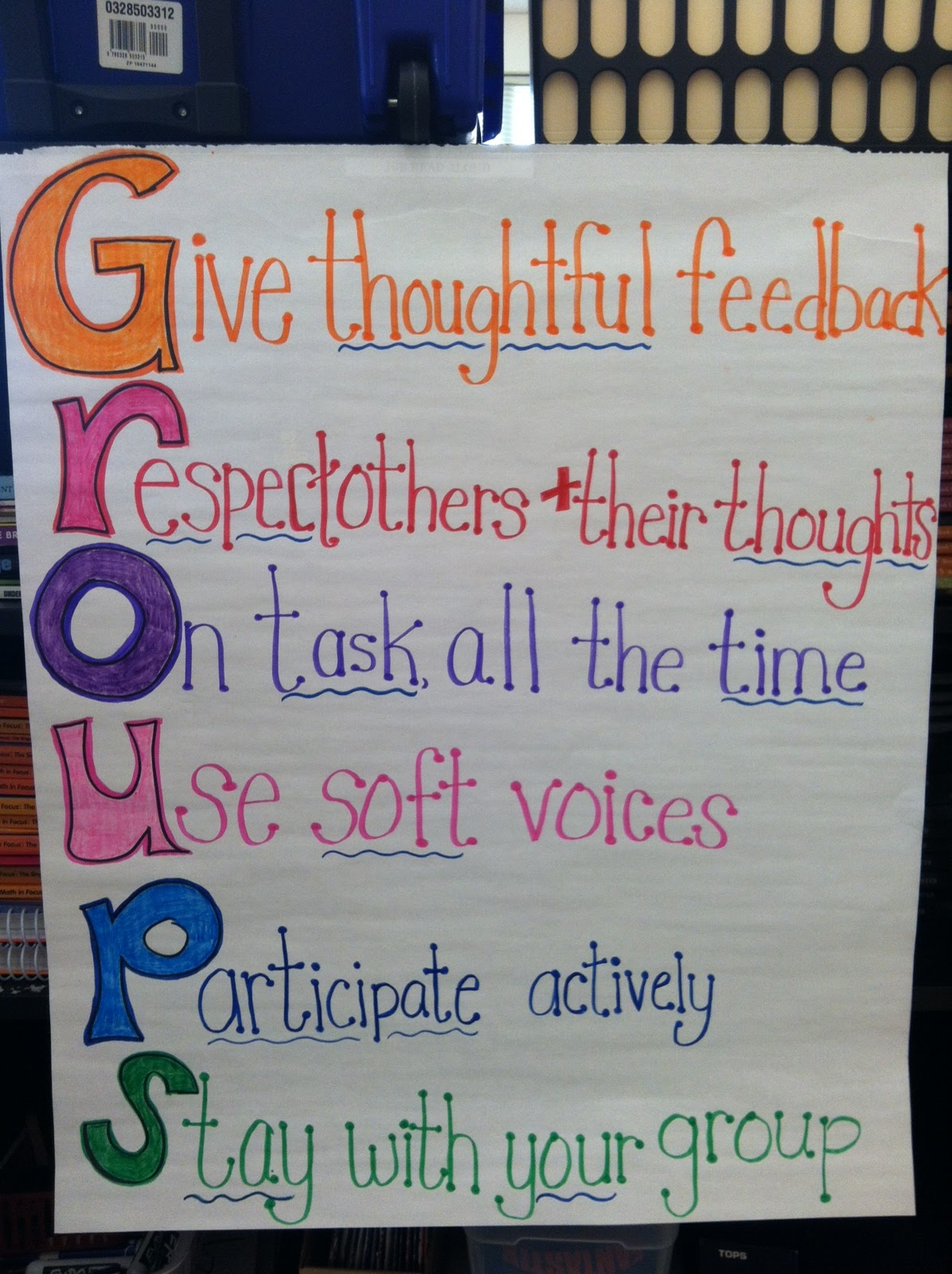 Innovative Classroom Rules ~ Teaching with a mountain view groups acronym